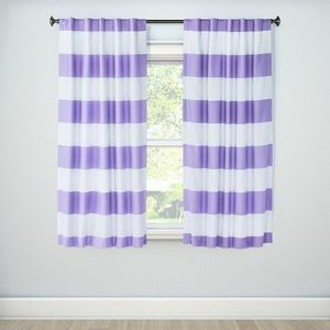 Set of 2 Rugby Stripe Curtain Panels